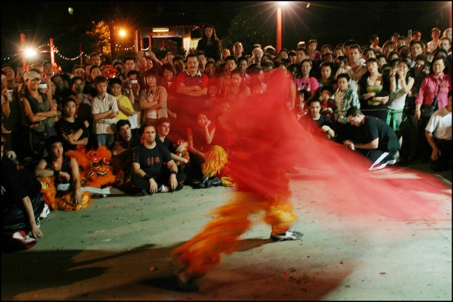 Kung Fu demonstration during lion dance